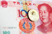 Chinese Currency Note and US dollar