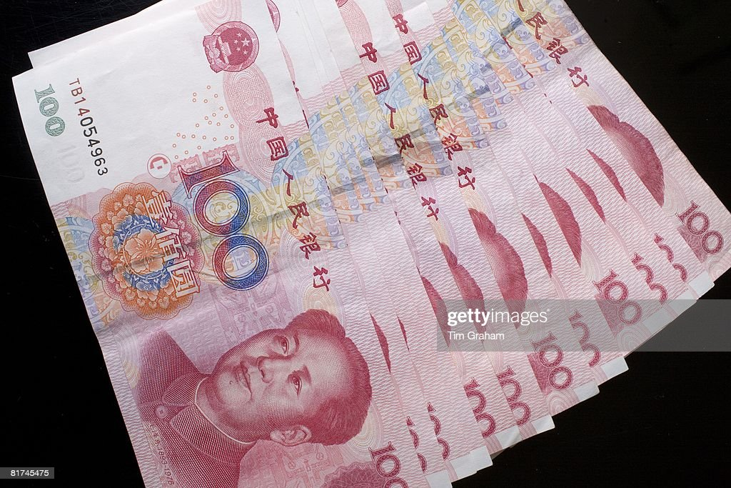Chinese currency, one hundred Yuan bills