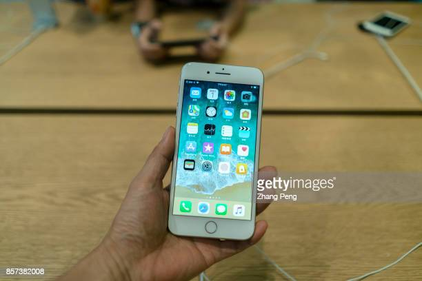 Chinese customers are trying the new iPhone 8 in an Apple store In Sept iPhone 8 arrived on the market but in many Apple retail stores around the...
