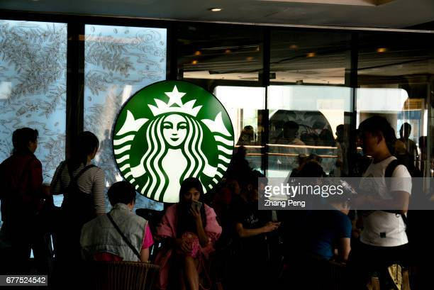Chinese customers in a Starbucks coffee shop Since June 1st 2017 the fulltime employees of Starbucks in Chinese market who have worked for two years...