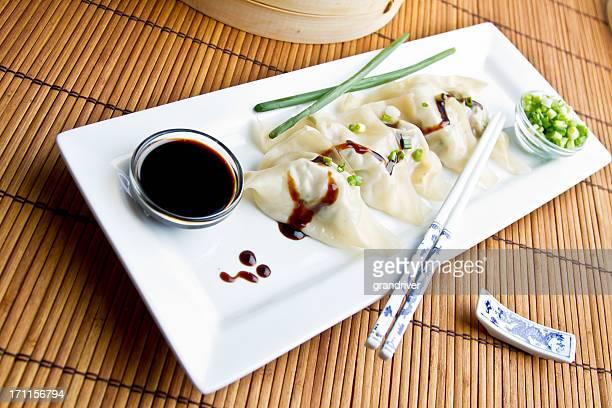 中国風小籠包、点心のプレート