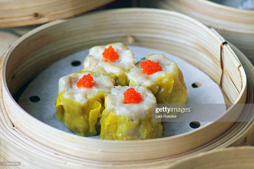 Chinese Dim Sum: Sui Mai : Stock Photo