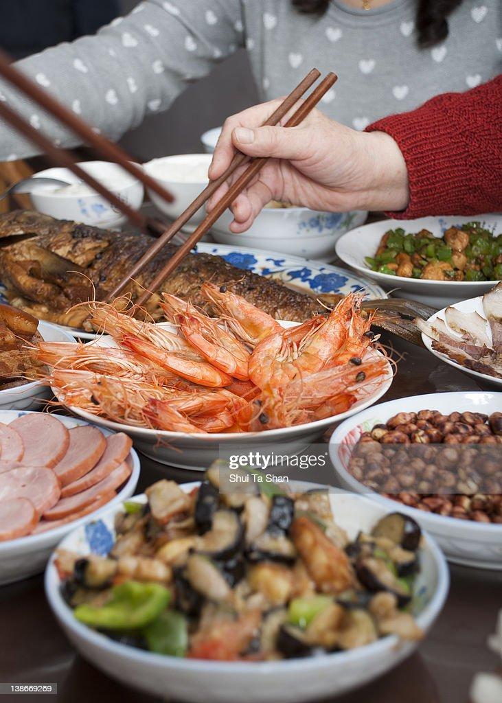 Chinese dinner : Stock Photo