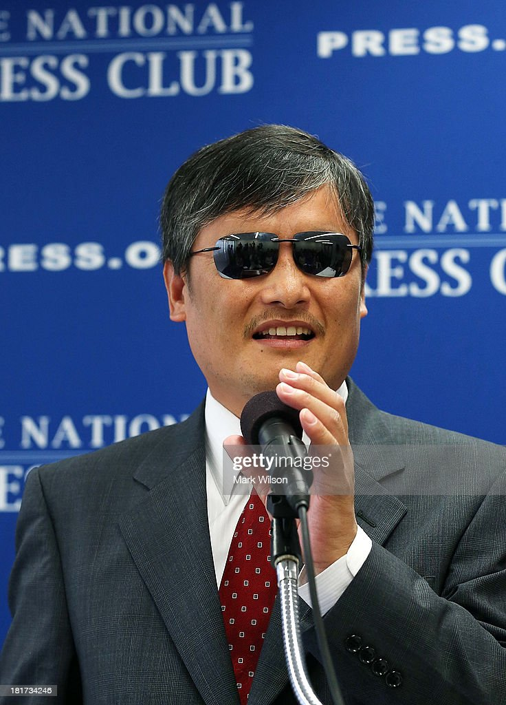 Chinese dissident Chen Guangcheng speaks at the National Press Club September 24 2013 in Washington DC Guangcheng who is known for organizing a class...
