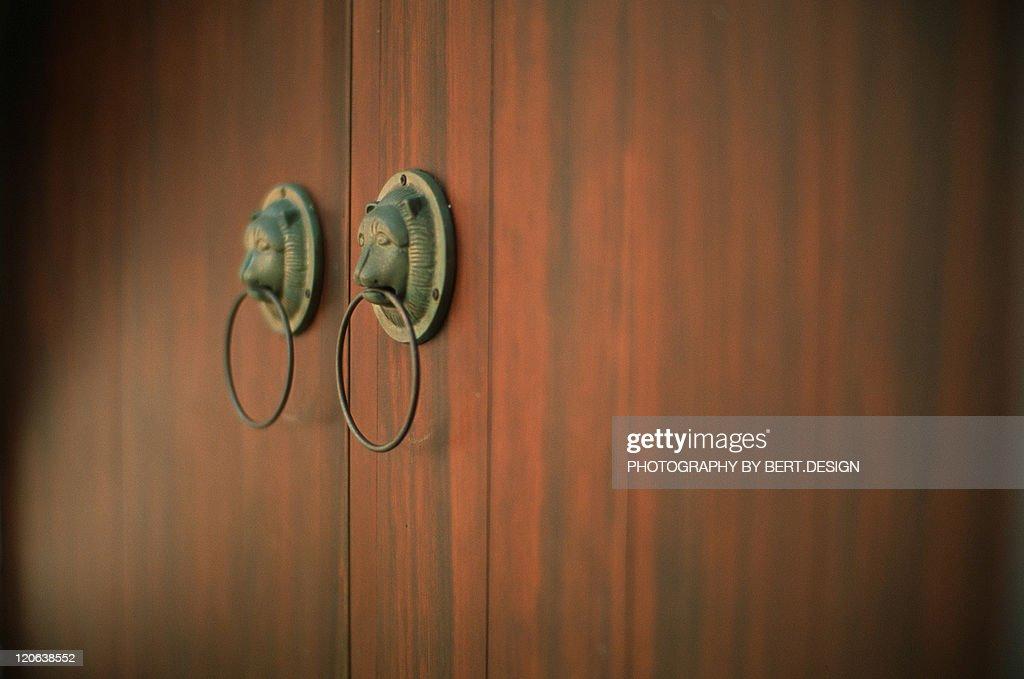 Chinese door ring : Stock Photo