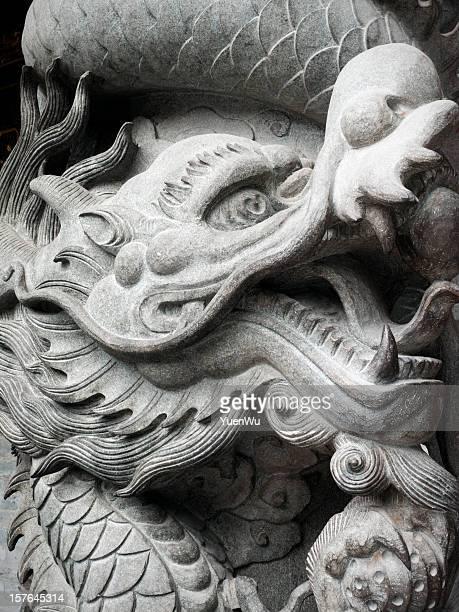 Chinese dragon in granite sculpture