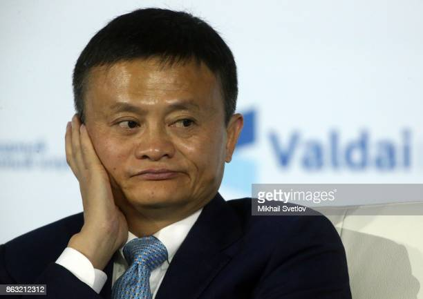 Chinese ecommerce giant Alibaba Group's Chairman Jack Ma attends a meeting with Valdai Discussion Club members in Sochi Russia October 2017 Photo by...