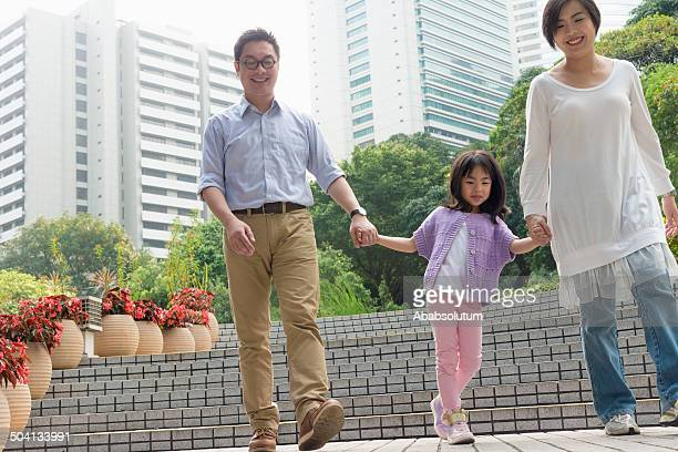 Chinese Family in Hong Kong Park, Asia