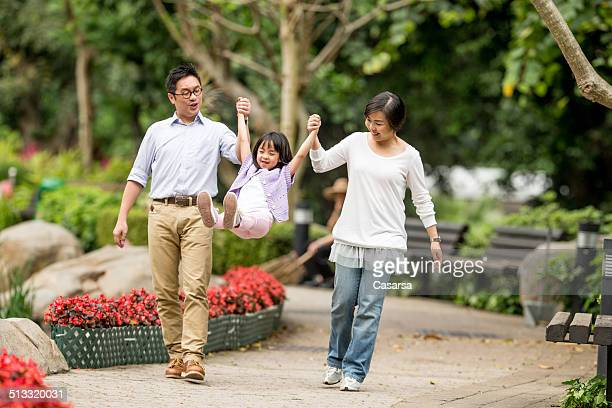 Chinese family in the park