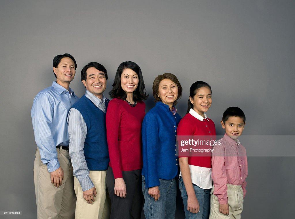 Chinese Family on plain : Stock Photo