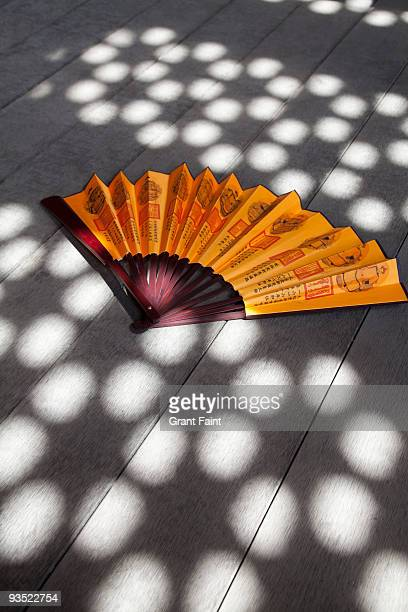 Chinese fan on palace floor