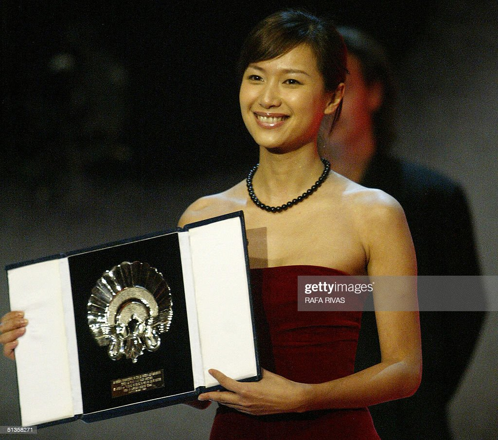 Chinese film director Xu Jinglei receives the 52nd San Sebastian International Film Festival Silver Shell for best direction for her movie 'Yi feng...