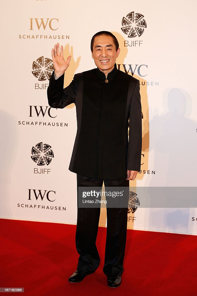 Chinese film director <a gi-track='captionPersonalityLinkClicked' href=/galleries/search?phrase=Zhang+Yimou&family=editorial&specificpeople=211304 ng-click='$event.stopPropagation()'>Zhang Yimou</a> attends the exclusive 'For the Love of Cinema' event hosted by Swiss watch manufacturer IWC Schaffhausen in the role as new sponsor of the Beijing International Film Festival, at the Ming Dynasty City Wall on April 22, 2013 in Beijing, China.