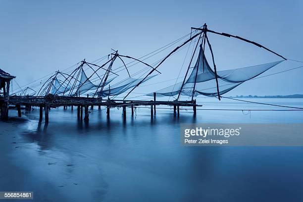 Chinese fishing nets at dawn