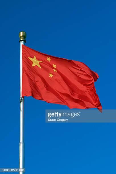 Chinese flag fluttering