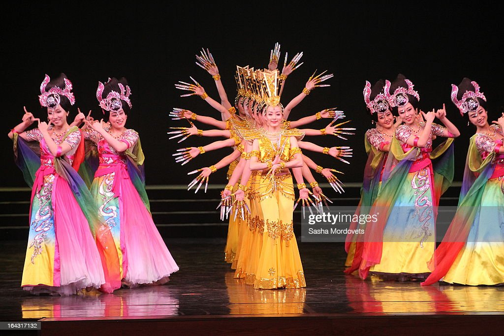 Chinese folk collective performs during the concert in honor of the opening of the Year of Chinese Tourism in Russia inat the Kremlin on March 22, 2013 in Moscow, Russia. President Xi Jinping's visit to Russia is his first overseas trip as president.