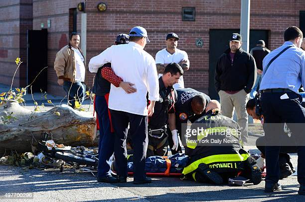 A Chinese food delivery man from Ling Gee on Van Brundt Street was struck and critically injured when tree cutters working in Coffey Park in Red Hook...