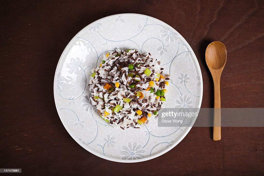 Chinese food fried rice : Stock Photo