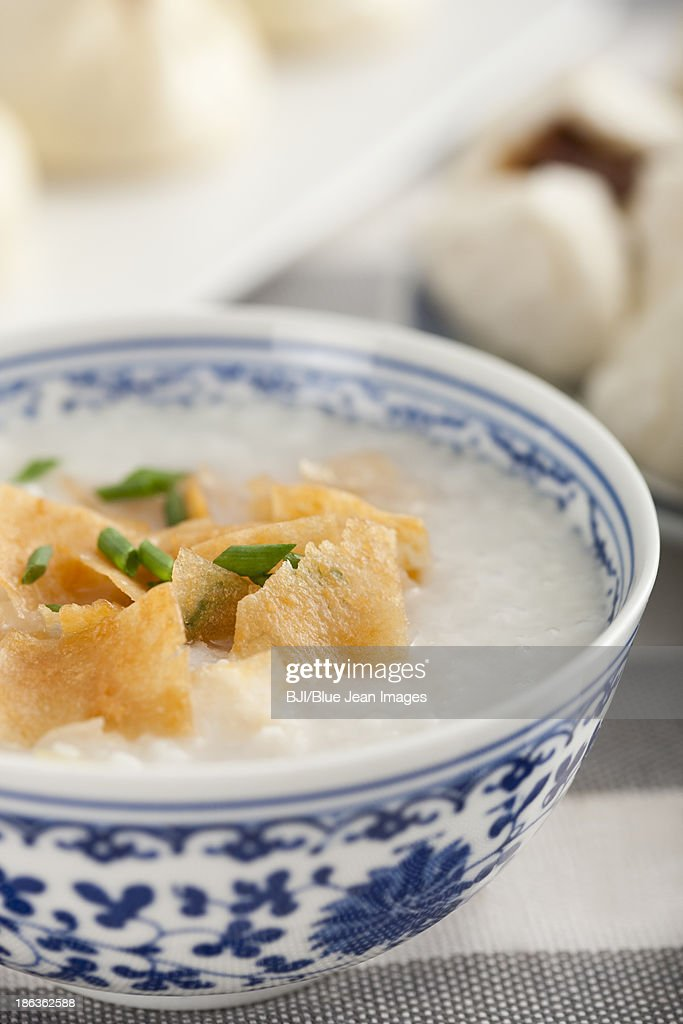 Chinese food rice porridge : Stock Photo