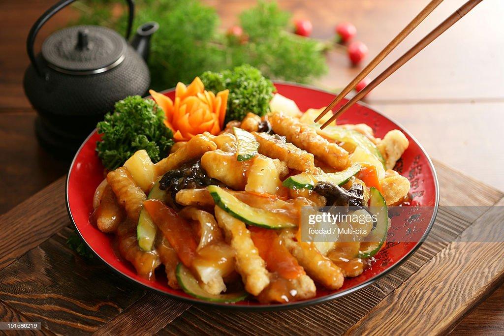 Chinese food, Tangsuyuk : Stock Photo