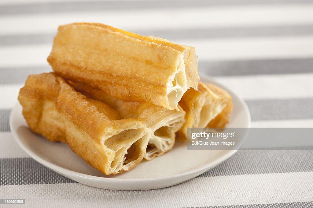 Chinese food youtiao : Stock Photo
