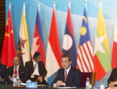 Chinese Foreign Minister Wang Yi addresses the opening session of the ASEAN China Foreign Ministers meeting at the Diaoyutai State Guesthouse on...