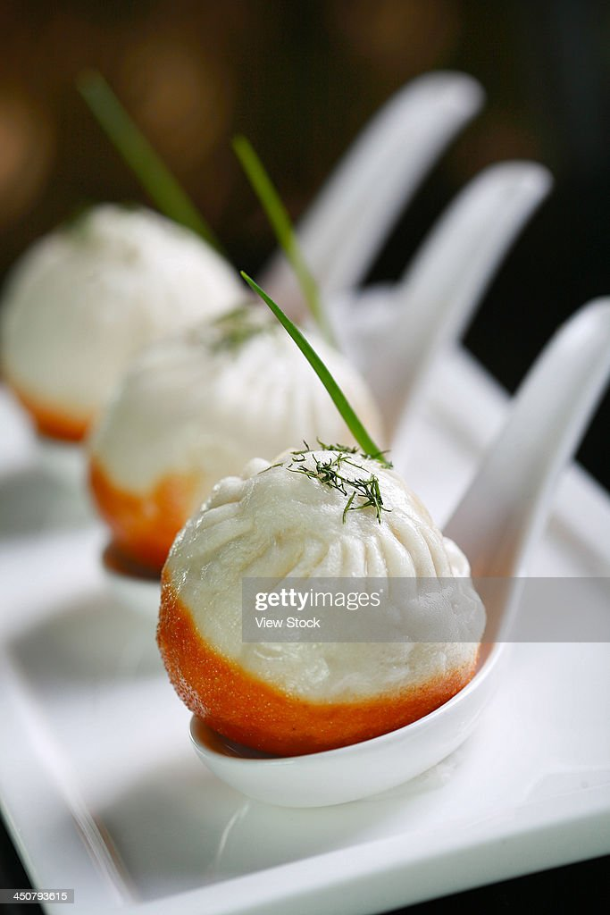 Chinese fried bun : Stock Photo