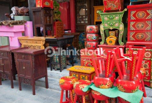 Tienda de muebles chinos foto de stock thinkstock for Muebles chinos outlet