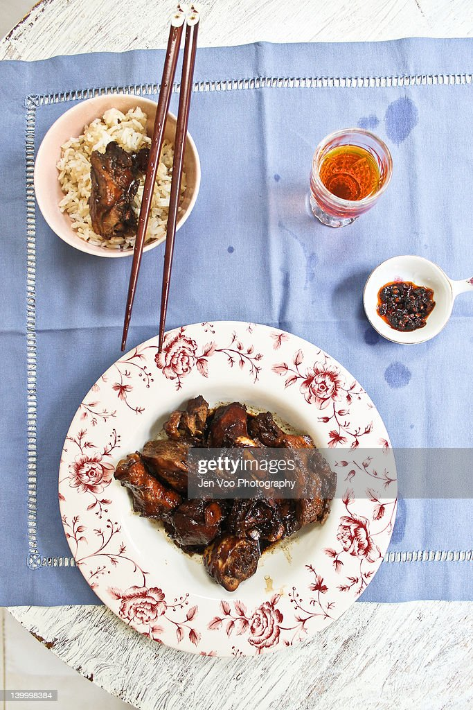 Chinese ginger chicken : Stock Photo