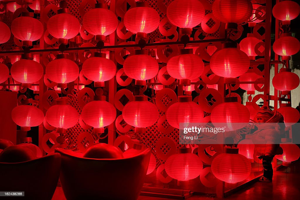 A Chinese girl visits a lantern show for the Chinese Lantern Festival which falls on February 24 and traditionally marks the end of the Lunar New Year celebrations on February 23, 2013 in Beijing, China.