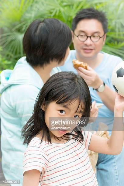 Chinese Girl Wants to Play Socker, Hong Kong Park, Asia
