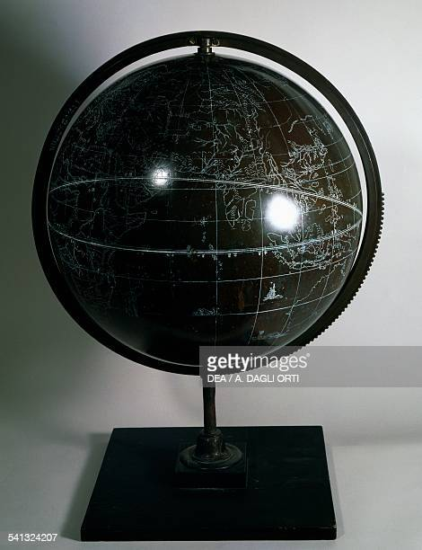 Chinese globe pedestal from a later period contemporary meridian circle aroung the globe bronze diameter 39 cm 17th century
