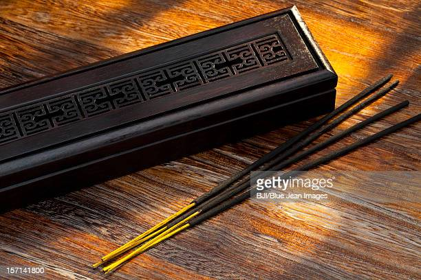 Chinese incense on table