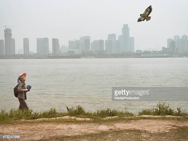 Chinoise du cerf-volant kite flyer