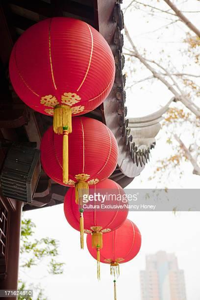 Chinese lanterns, Kowloon walled city, Hong Kong, China