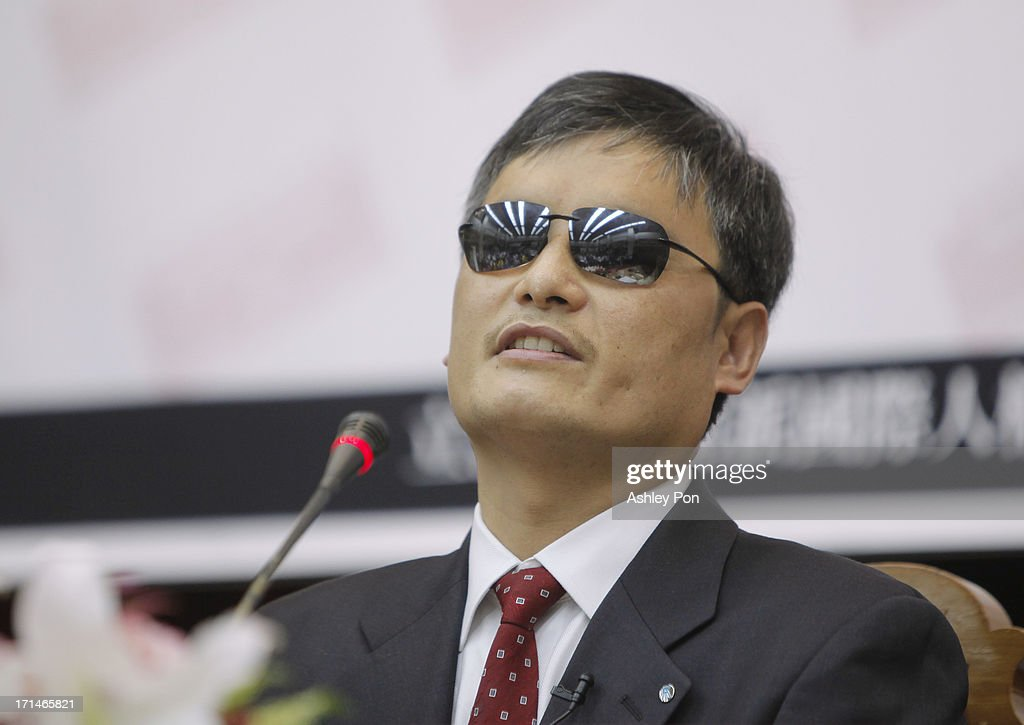 Chinese lawyer and human rights activist Chen Guangcheng talks to the audience in the Legislative Yuan on June 25 2013 in Taipei Taiwan Chen...
