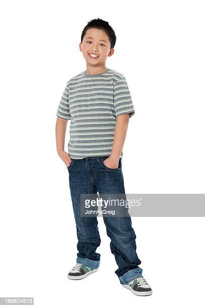 Chinesische kleine Junge lächelnd