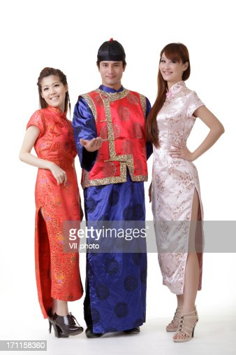 Chinese man and women