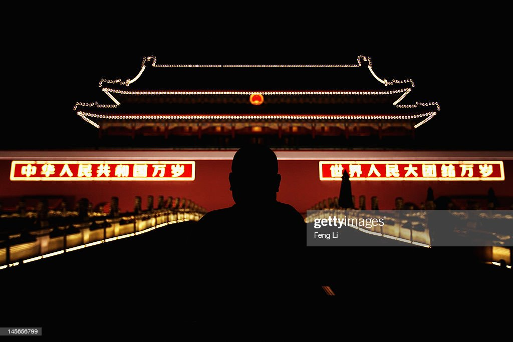 A Chinese man looks at the Tiananmen Gate on June 3, 2012 in Beijing, China.