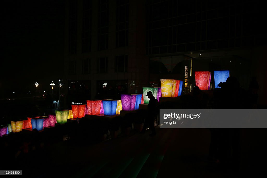 A Chinese man visits a lantern show for the Chinese Lantern Festival which falls on February 24 and traditionally marks the end of the Lunar New Year celebrations on February 23, 2013 in Beijing, China.