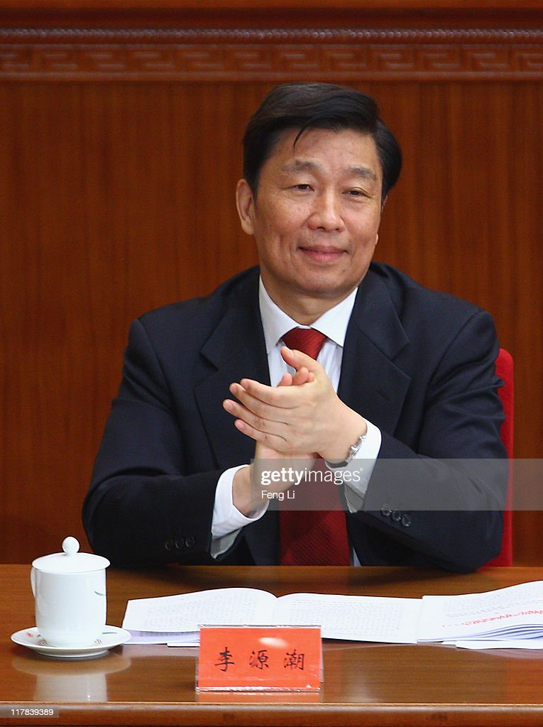 Chinese Minister of the Organisational Department Li Yuanchao attends the celebration of the Communist Party's 90th anniversary at the Great Hall of the People on July 1, 2011 in Beijing, China.