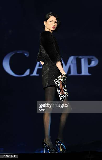 Chinese model Lv Yan walks the runway at the TGC Girls Collection 2011 at MasterCard Center on May 7 2011 in Beijing China