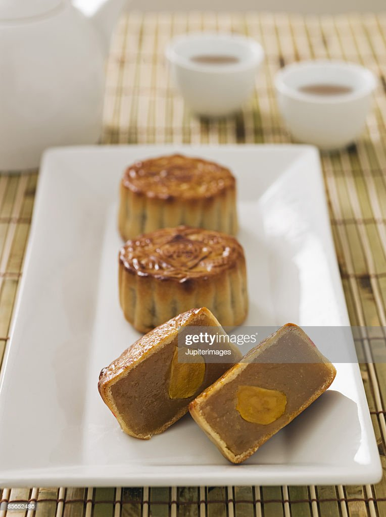 Chinese moon cakes : Stock Photo