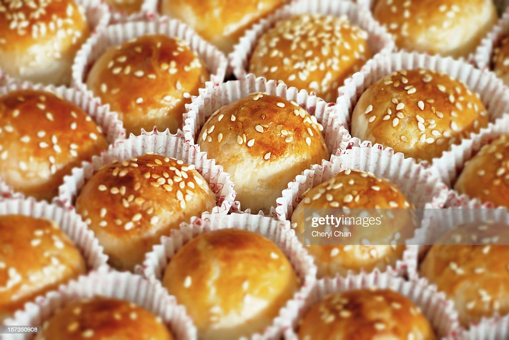 Chinese mung bean biscuits : Stock Photo