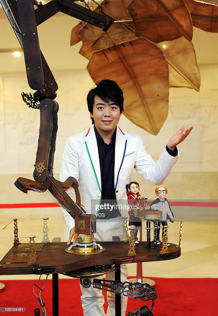 Chinese musician <a gi-track='captionPersonalityLinkClicked' href=/galleries/search?phrase=Lang+Lang&family=editorial&specificpeople=589153 ng-click='$event.stopPropagation()'>Lang Lang</a> attends a press conference for 'The Flying Machine' at the Forbidden City Concert Hall on August 30, 2011 in Beijing, China.