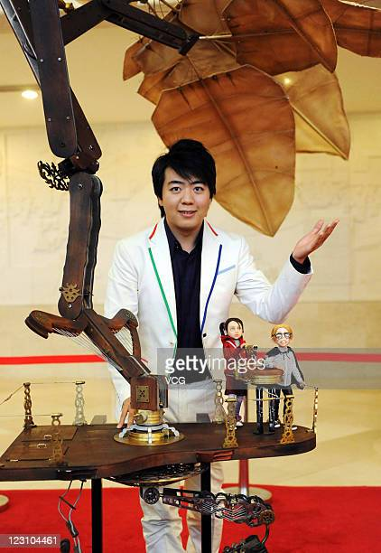 Chinese musician Lang Lang attends a press conference for 'The Flying Machine' at the Forbidden City Concert Hall on August 30 2011 in Beijing China