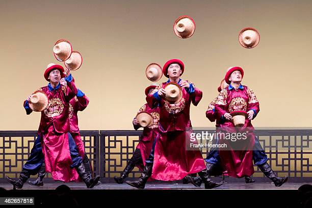 Chinese National Circus perform live during their show at the Tempodrom on January 31 2015 in Berlin Germany
