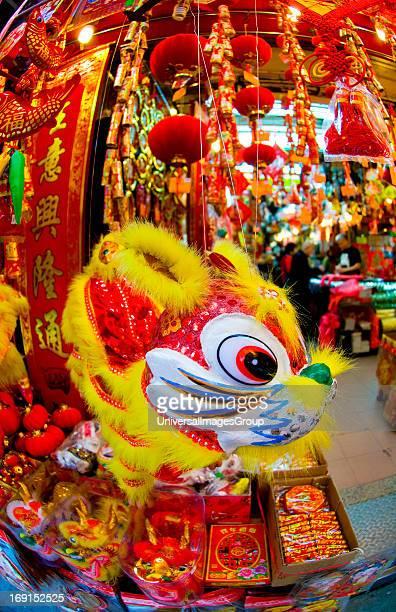 Chinese new year of the Rabbit 2011 shops selling decorations Hong Kong China Hong Kong China