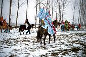 Chinese New Year Parade at Shaanxi Province China