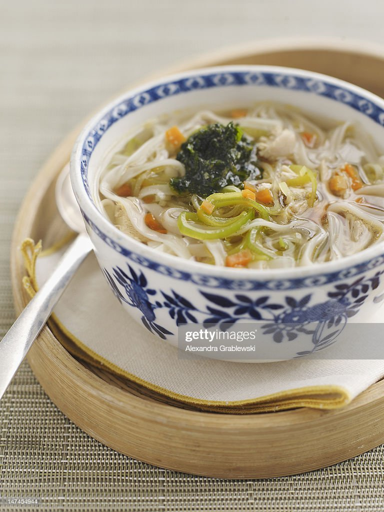 Chinese Noodle Soup : Stock Photo